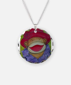Red Hat Sock Monkey Necklace