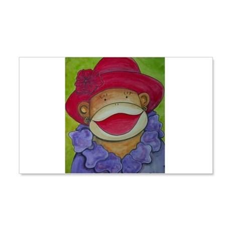 Red Hat Sock Monkey 22x14 Wall Peel