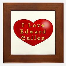 I Love Edward Cullen Framed Tile