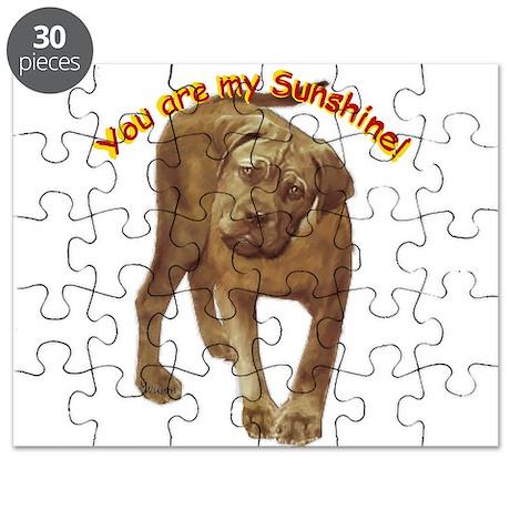 Pomeranian head dog art Puzzle