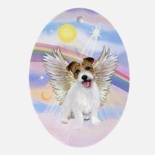 Jack Russell Terrier Angel Oval Ornament
