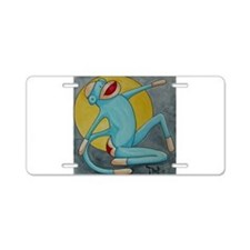 Bonnie Blue Sock Monkey Aluminum License Plate