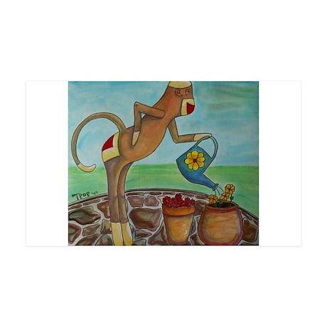 Garden Sock Monkey 38.5 x 24.5 Wall Peel