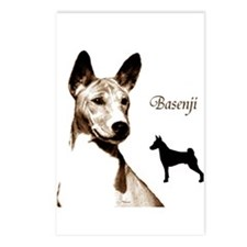 basenji art dog art on gifts Postcards (8)