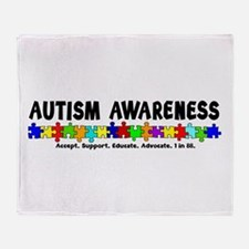 Aut Aware (Puzzle row) Throw Blanket