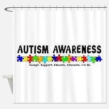 Aut Aware (Puzzle row) Shower Curtain