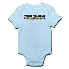 Aut Aware (Puzzle row) Infant Bodysuit