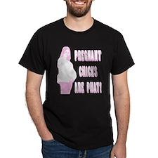 pregnant Black T-Shirt
