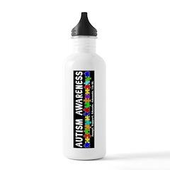 Aut Aware (Puzzle row) Dk Water Bottle