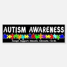 Aut Aware (Puzzle row) Dk Bumper Bumper Sticker