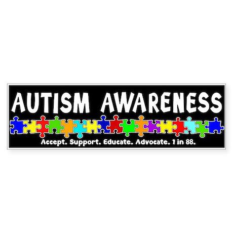 Aut Aware (Puzzle row) Dk Sticker (Bumper)
