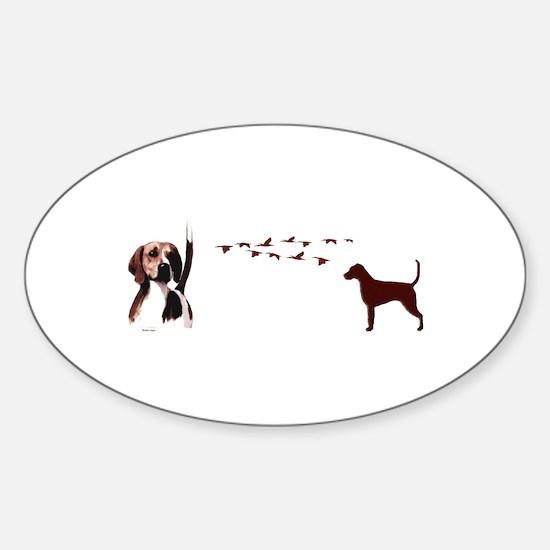 hound Sticker (Oval)