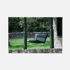 Porch Swing Rectangle Magnet