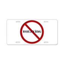 No Bullying Aluminum License Plate