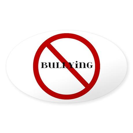 No Bullying Sticker (Oval 50 pk)