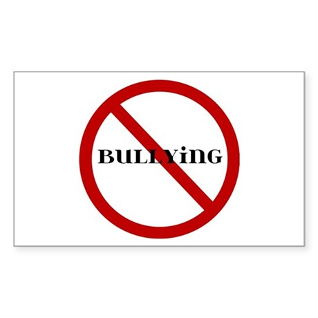 No Bullying Sticker (Rectangle)