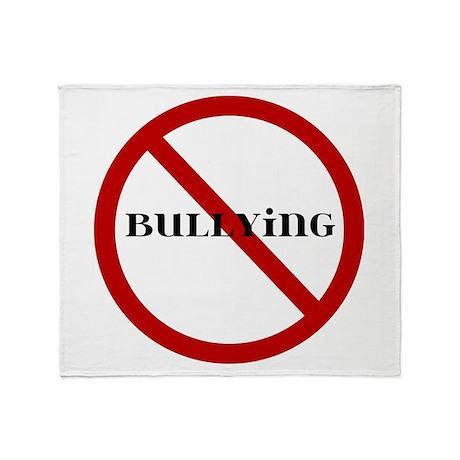No Bullying Throw Blanket