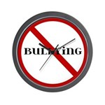 No Bullying Wall Clock