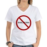 No Bullying Women's V-Neck T-Shirt