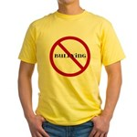 No Bullying Yellow T-Shirt