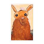 Bath Time Llama Sticker (Rectangle)