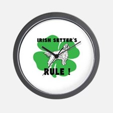 irish setter's RULE! Wall Clock