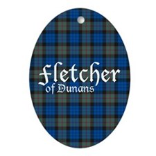 Tartan - Fletcher of Dunans Ornament (Oval)