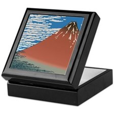 Hokusai Red Fuji Keepsake Box