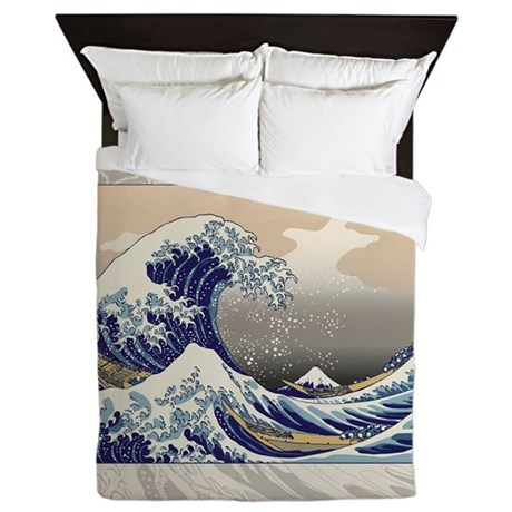 Hokusai The Great Wave Queen Duvet