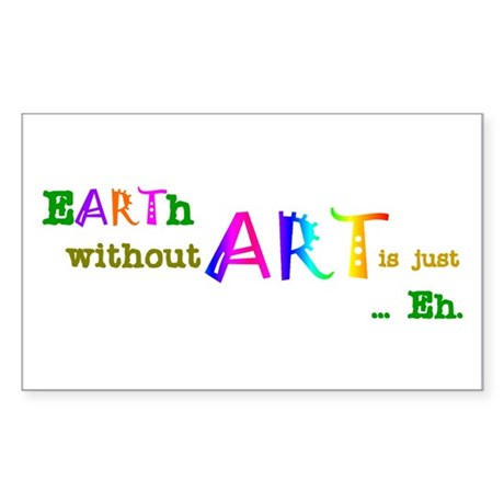 EarthWithoutArt Sticker (Rectangle 50 pk)