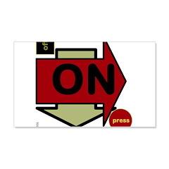 OYOOS Arrow OnOff design 22x14 Wall Peel