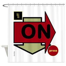 OYOOS Arrow OnOff design Shower Curtain