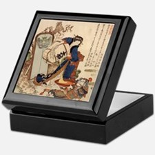 Hokusai Strong Oi Pouring Sake Keepsake Box