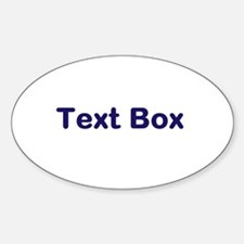 Personalized Stickers, etc. Sticker (Oval)
