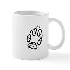 Angled Paw Print Small Mug
