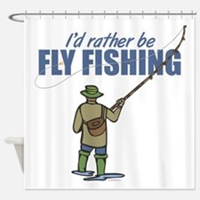 Fly Fishing Shower Curtain