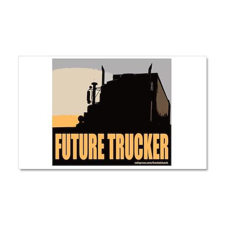 FUTURE TRUCKER Car Magnet 20 x 12