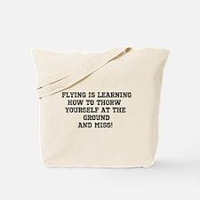 Funny Aviation Tote Bag