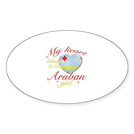 Aruban Valentine's designs Sticker (Oval)