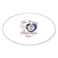 Belizean Valentine's designs Sticker (Oval)