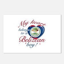 Belizean Valentine's designs Postcards (Package of