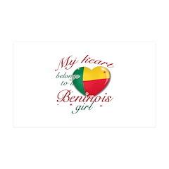 Beninois Valentine's designs 38.5 x 24.5 Wall Peel