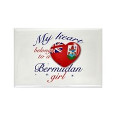 Bermudan Valentine's designs Rectangle Magnet