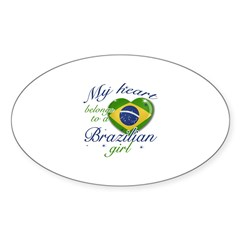 Brazilian Valentine's designs Sticker (Oval)