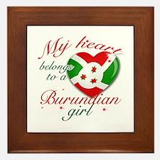 Burundian Valentine's designs Framed Tile