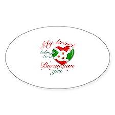 Burundian Valentine's designs Sticker (Oval)