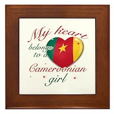 Cameroonian Valentine's designs Framed Tile