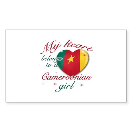Cameroonian Valentine's designs Sticker (Rectangle