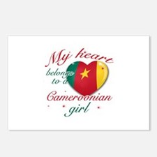 Cameroonian Valentine's designs Postcards (Package