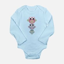 funky owls balancing act Long Sleeve Infant Bodysu
